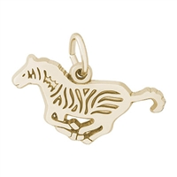 Rembrandt Zebra Charm, Gold Plated Silver