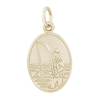 Rembrandt Fisherman Charm, Gold Plated Silver