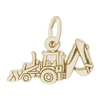 Rembrandt Back Hoe Charm, 10K Yellow Gold