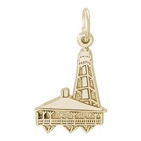 Rembrandt Sanibel Florida Lighthouse Charm, Gold Plated Silver