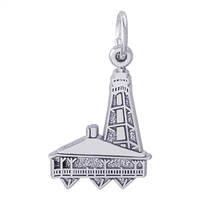 Rembrandt Sanibel Florida Lighthouse Charm, Sterling Silver