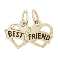 Rembrandt Best Friends Charm, Gold Plated Silver