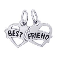 Rembrandt Best Friends Charm, Sterling Silver