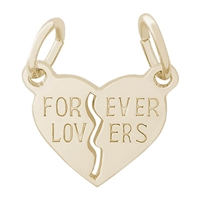 Rembrandt Forever Lovers Charm, Gold Plated Silver