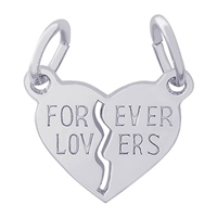 Rembrandt Forever Lovers Charm, Sterling Silver