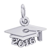 Rembrandt Grad Cap 2016 Charm, Sterling Silver