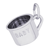 Rembrandt Baby Cup Charm, Sterling Silver