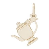 Rembrandt Teapot Charm, Gold Plated Silver