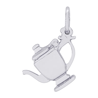 Rembrandt Teapot Charm, Sterling Silver