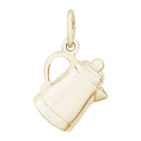 Rembrandt Coffee Pot Charm, Gold Plated Silver