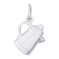 Rembrandt Coffee Pot Charm, Sterling Silver
