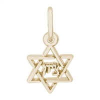Rembrandt Star of David Charm, Gold Plated Silver