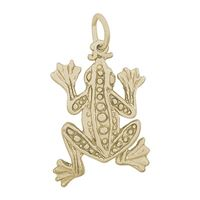 Rembrandt Frog Charm, Gold Plated Silver