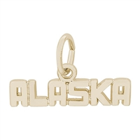 Rembrandt Alaska Charm, Gold Plated Silver