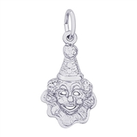 Rembrandt Clown Charm, Sterling Silver