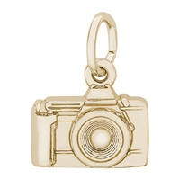 Rembrandt Camera Charm, Gold Plated Silver
