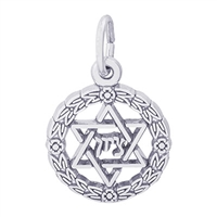 Rembrandt Star of David Charm, Sterling Silver