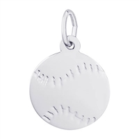 Rembrandt Baseball Charm, Sterling Silver
