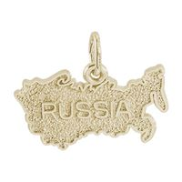 Rembrandt Russia Charm, Gold Plated Silver