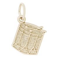 Rembrandt Drum Charm, Gold Plated Silver