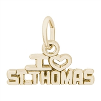 Rembrandt St Thomas Charm, Gold Plated Silver