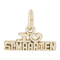 Rembrandt St Maarten Charm, Gold Plated Silver