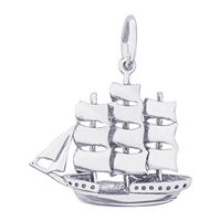 Rembrandt Sailboat Charm, Sterling Silver