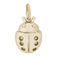 Rembrandt Ladybug Charm, Gold Plated Silver