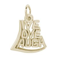 Rembrandt Live Love Laugh Charm, Gold Plated Silver