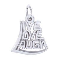 Rembrandt Live Love Laugh Charm, Sterling Silver
