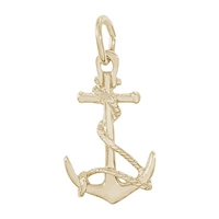 Rembrandt Anchor Charm, Gold Plated Silver