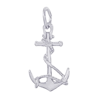 Rembrandt Anchor Charm, 14K White Gold
