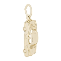 Rembrandt Car Charm, Gold Plated Silver