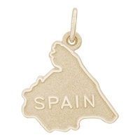 Rembrandt Spain Charm, Gold Plated Silver