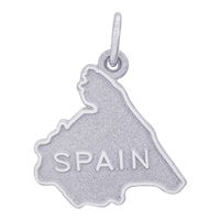 Rembrandt Spain Charm, 14K White Gold