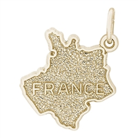 Rembrandt France Charm, Gold Plated Silver