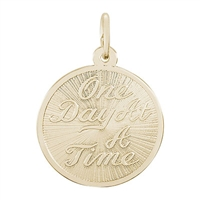 Rembrandt One Day At A Time Charm, Gold Plated Silver