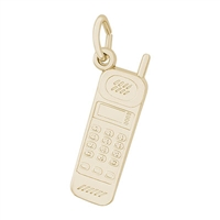 Rembrandt Cell Phone Charm, Gold Plated Silver