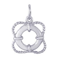 Rembrandt Life Preserver Charm, Sterling Silver
