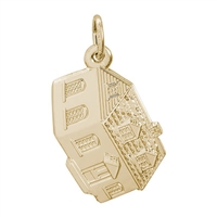 Rembrandt Colonial House Charm, 10K Yellow Gold