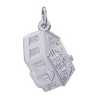 Rembrandt Colonial House Charm, Sterling Silver
