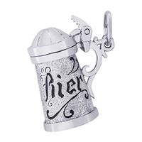 Rembrandt Beer Stein Charm, Sterling Silver