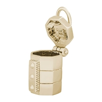Rembrandt Pottery Kiln Charm, Gold Plated Silver