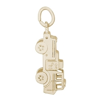 Rembrandt Firetruck Charm, Gold Plated Silver