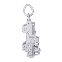 Rembrandt Firetruck Charm, Sterling Silver
