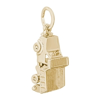 Rembrandt Dump Truck Charm, Gold Plated Silver