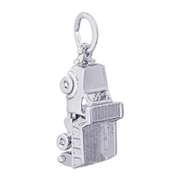 Rembrandt Dump Truck Charm, Sterling Silver