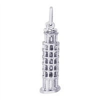 Rembrandt Leaning Tower Of Pisa Charm, Sterling Silver