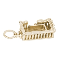 Rembrandt Parthenon Charm, Gold Plated Silver
