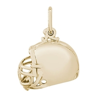 Rembrandt Football Helmet Charm, Gold Plated Silver